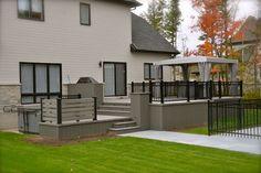 Patio Plus - Hot tub Decks Deck Landscaping, Pergola Patio, Pergola Kits, Backyard, Spa Design, Patio Design, House Design, Patio Plus, Easy Deck