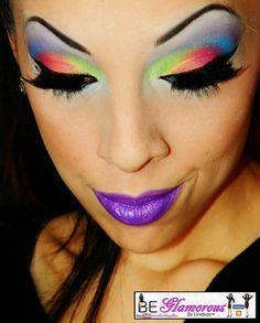 Rainbow eyeshadow. Lovelovelove!!!