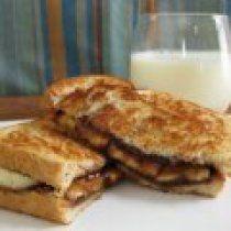Receta de Sandwich de Chocolate y Platano