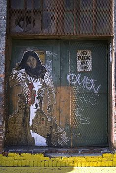 Street Art by Swoon 3rd Avenue, Gowanus, Brooklyn, New York