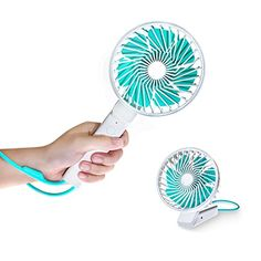 Save 40% on AMAZON with code D2IJQU6L Pinned on 9/27/2018 Portable Hand Fan - Sakobs Personal Mini Handheld USB Rechargeable Fan With 3 Adjustable Speed , Battery Operated Electric Cooling Fan for Office Outdoor Sport Household Traveling Camping White