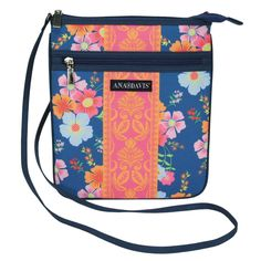Ana Davis Shade Garden Cross Body Zip Panel Bag