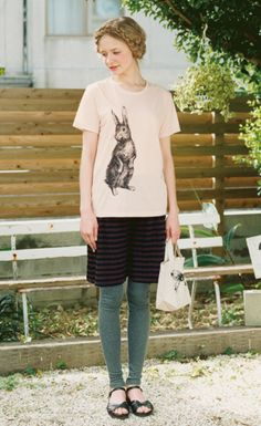 Bunny blouse is cute, the rest of the outfit is a bit dorky.