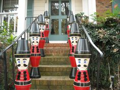 "Stacked 8"" clay pots to make Christmas soldiers, with Dee Sutton"