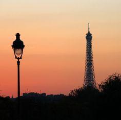 Paris with crepuscule skies.