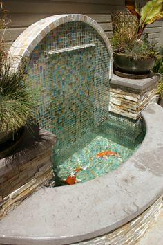 Outdoor Wall Fountains, Diy Garden Fountains, Indoor Fountain, Backyard Pool Designs, Backyard Landscaping, Landscape Design, Garden Design, Outdoor Projects, Outdoor Decor