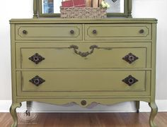 Such a great antique green! | Salvaged Inspirations