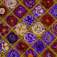 Kaffe Fassett - Camellia - Brown Fabric Stitch Craft Create