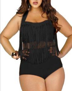 cd99fdd1a80c SaiDeng Donne Taglie Forti Charme Colore Retro Nappa A Vita Alta Due Pezzi  Bikini Costumi Da Bagno: Amazon.it: Abbigliamento