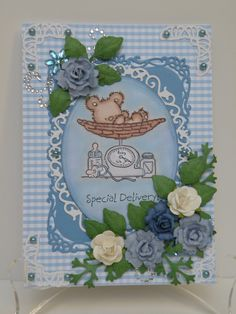 Made with Lily of the Valley stamp and Spellbinders dies. New baby ...