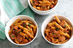 This quick and easy chorizo pasta by taste member 'kquay2' is ready in 30 minutes.