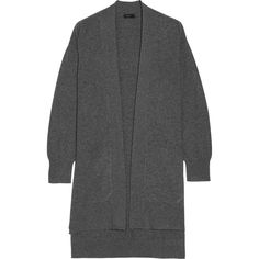 Joseph Draped wool cardigan (962.200 COP) ❤ liked on Polyvore featuring tops, cardigans, grey, drape cardigan, dark grey cardigan, wool cardigan, drape top and drapey cardigan