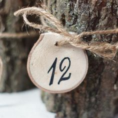 12 Tree Branch Table Numbers , Wedding Tag-Wedding-First Class-GFT Woodcraft