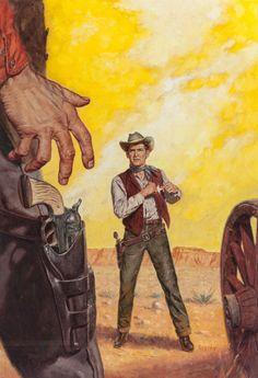 Wear a Fast Gun by John Jakes, Ace Double 1956 Westerns, Western Comics, Graffiti, Cowboy Art, Western Cowboy, West Art, Magazine Art, Pulp Magazine, Le Far West