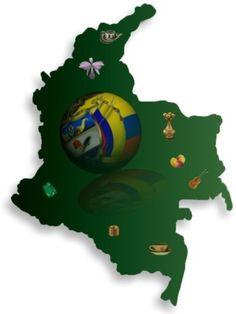 Colombia, departamentos, datos, musica, dinero, bandera y escudo