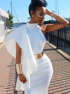 off shoulder midi dress 2017 elegant white navy blue ruffle womens dress gown briefs sexy backless slit black friday clothing Elegant Dresses, Sexy Dresses, Cute Dresses, Beautiful Dresses, Mode Outfits, Dress Outfits, Fashion Outfits, African Fashion Dresses, African Dress