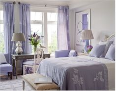 lavender bedroom....not overdone, just right...