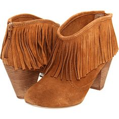 Betsey Johnson fringe booties