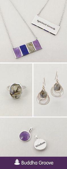 Amethyst and Labradorite Jewelry Healing Gemstones, Crystal Healing, Labradorite Jewelry, Third Eye, Lapis Lazuli, Amethyst, Spirituality, Pendant Necklace, Crystals