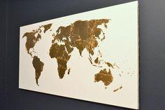 gold leaf map art