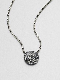 David Yurman - Diamond Accented Sterling Silver Pendant Necklace at London Jewelers!