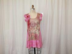 Bohemian blouse/upcycled clothing /shabby chic dress/ by MilaLem