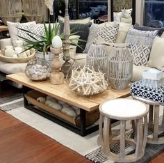 A style up with relaxed Hamptons look for the store this week...x #hamptons #cushions #linen #styleblogger #styling #sofas #furnishings #homewares #plants #homedecor #interiordesign #interiors #house #summer #instalove #candles #coastlife #coastal #entertaining #outdoors #sorrento #vintage #morningtonpeninsula #saltwateronline