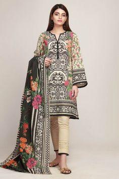 Khaadi Latest Summer Lawn Dresses Designs Collection 2019 - All About Pakistani Casual Wear, Pakistani Formal Dresses, Pakistani Dress Design, Pakistani Outfits, Stylish Dress Book, Stylish Dresses, Women's Fashion Dresses, Dress Shirts For Women, Clothes For Women