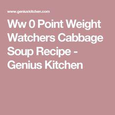 Ww 0 Point Weight Watchers Cabbage Soup Recipe - Genius Kitchen