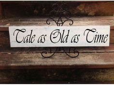 Tale as Old as Time, Disney Wedding Sign, Wedding Sign, Wedding Decor, Disney Wedding, Beauty & the Beast, Disney Wedding Decor    Please see