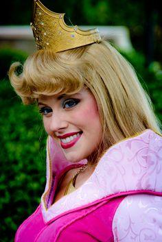 She's MUCH prettier, and probably a lot nicer, than the one I met! Disneyland Princess, Disney Princess Half Marathon, Aurora Disney, Disney Magic, Disney World Characters, Fantasy Characters, Princess Aurora, Princess Belle, Princess Costumes