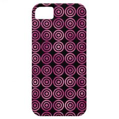 Girly iPhone5 Pink Circles Geometric Pattern