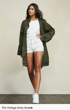 All white & Army green ♡ REFORMATION