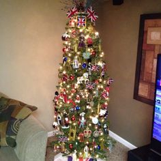 A Christmas tree that reflects my Anglophile obsession. Always on the lookout for additions!