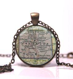 Colorado state map pendant, Colorado Pendant, Colorado Jewelry pendant, Colorado Jewelry, Jewelry