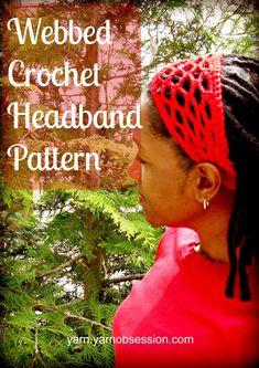 Webbed Headband Crochet Pattern | Yarn by Yarn Obsession
