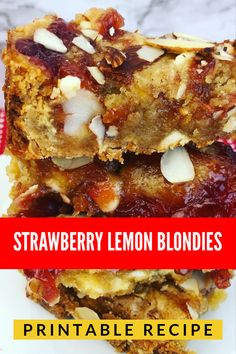 Amazing blondies. The strawberry and lemon will make them a family favorite.
