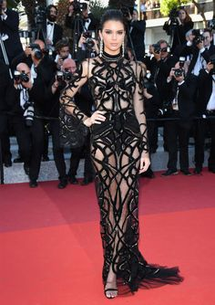 kendall jenner cannes may 2016 red carpet cavalli peter dundas