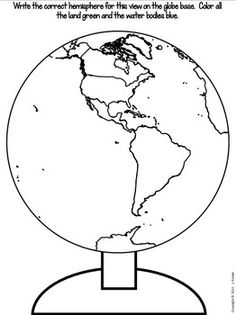 The World - A Globe Craftivity for Social Studies by Runde's Room 3rd Grade Social Studies, Kindergarten Social Studies, Teaching Social Studies, Pre K Worksheets, Kindergarten Worksheets, 3d Globe, Continents And Oceans, Oceans Of The World, Student Studying