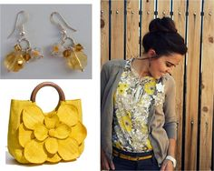 "second mix and match of the ""Yellow shades"" earrings"