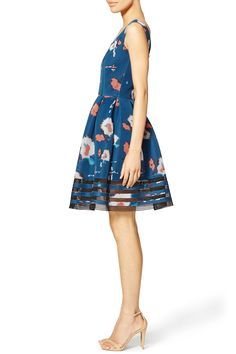 Blue Bloom Mesh Dress by Sachin & Babi for $60 - $80 | Rent the Runway