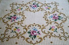 Tapestry table doily Hand embroidered table cloth Home Decor