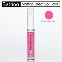 """Un labial con terminación mate, de larga duración y que no reseca tus labios. #Bettina """"Matting Effect Lip Color"""". #Lipstick #matte"""