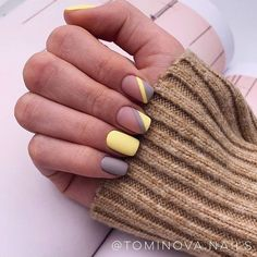 40 Incredible Pastel Nail Designs You'll Glamorous Pastel Nail Art Ideas Trends Pastel colors nails are trending for a jiffy not and it appears that this trend is here to remain with for a bit longer. Nail Polish, Shellac Nails, Acrylic Nails, Cute Nails, Pretty Nails, Nailart, Colorful Nail, Minimalist Nails, Yellow Nails