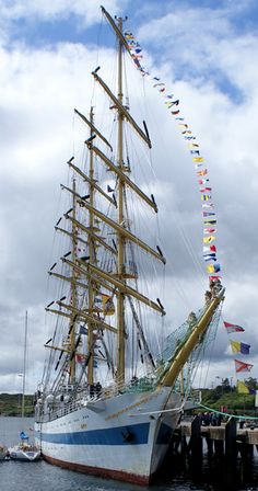 The Russian tall ship 'Mir', seen in Stornoway's harbour July 2011.