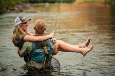 Fly Fishing Engagement Photos | Jason+Gina Wedding Photographers