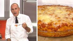 Make the spaghetti pie that Matt Lauer can't get enough of Italian Foods, Italian Dishes, Italian Recipes, Low Carb Recipes, Beef Recipes, Yummy Recipes, What's Cooking, Cooking Recipes, Spaghetti Pie Recipes