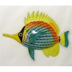 Needle Nose Tropical Fish Tiki Sea Life Wall Decor 8 inch