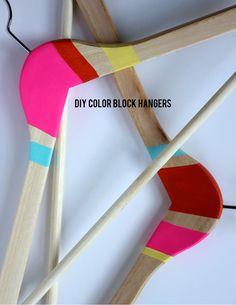 DIY Color Block Hangers