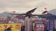 Kai Tak Airport, J Birds, Discover Hong Kong, British Hong Kong, Tv Aerials, Cathay Pacific, Pearl River, Air Photo, World Cities